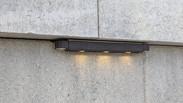 Lighting for retaining wall