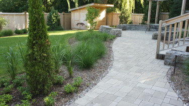 Back yard landscaped space!