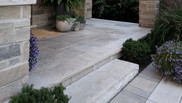 Natural stone front entrance