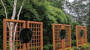 Custom Cedar and Iron Privacy Screens