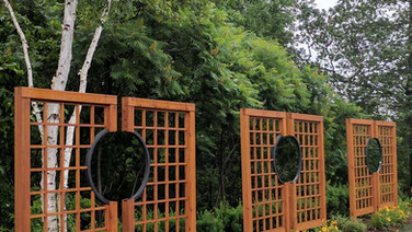 Custom Cedar and Iron Privacy Screens