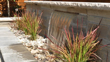 Water Feature from Stone Retaining Wall