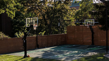 Custom basketball court