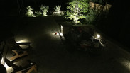 Landscape lighting in back yard