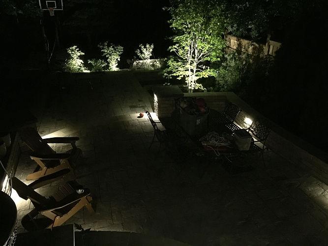 Landscape Lighting in back yard.