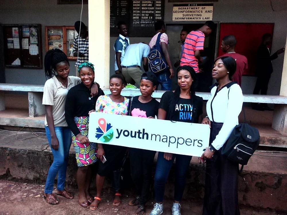 Pioneeer members of the LionMappersTeam, Enugu Campus