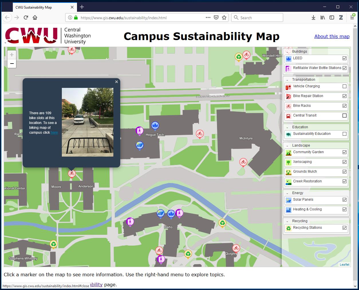 CWU Sustainability Map