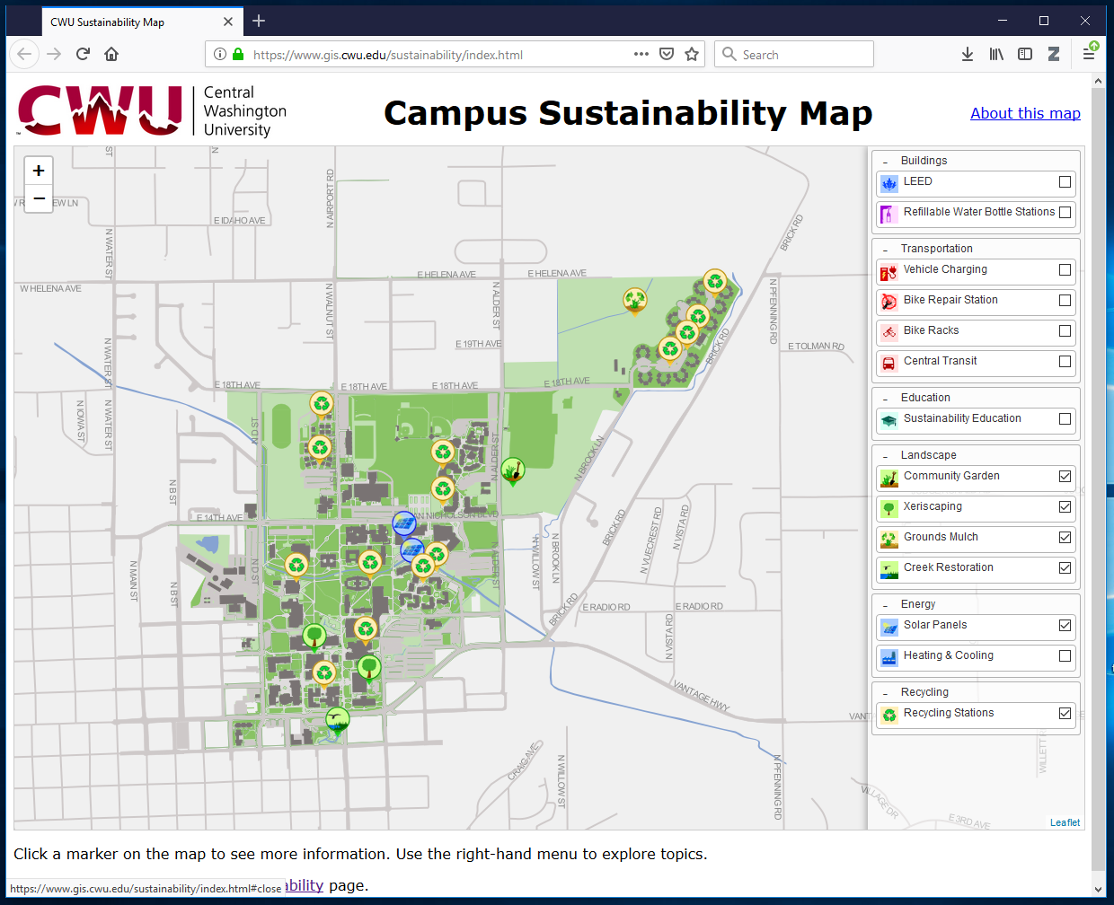 CWU Sustainability Map | YouthMappers