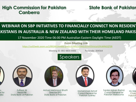 Webinar on SBP initiatives to Financially connect Non Resident Pakistanis with Pakistan