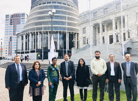 The High Commissioner welcomed an International Peace Walker to New Zealand