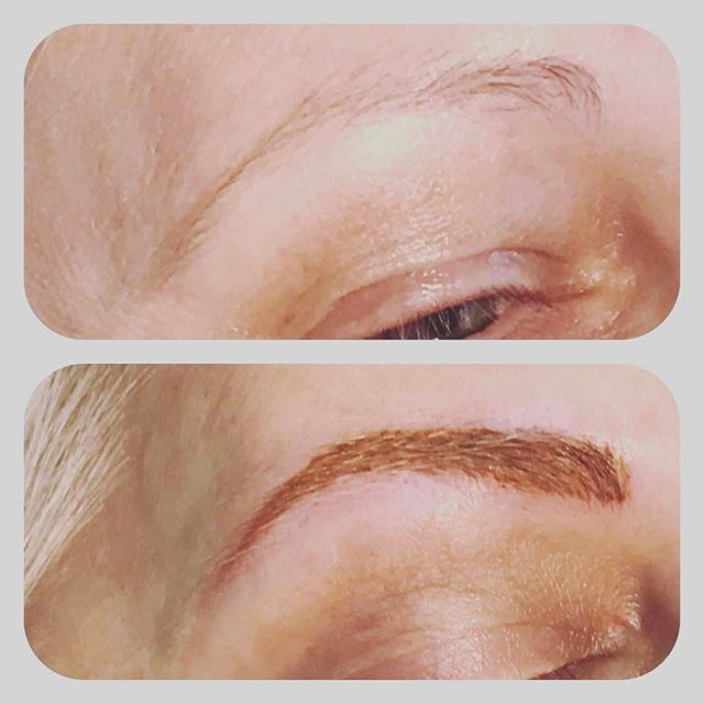 Eyebrow retouch