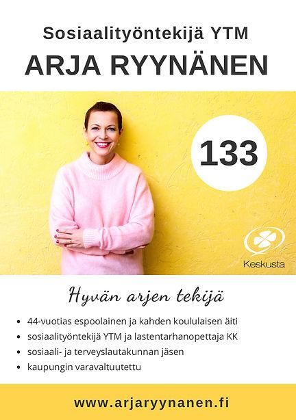 Arja_Ryynänen_Flyer_Eduskuntavaalit2019.