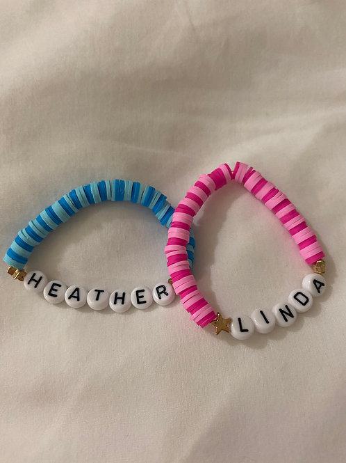 Linda and heather bff bracelet