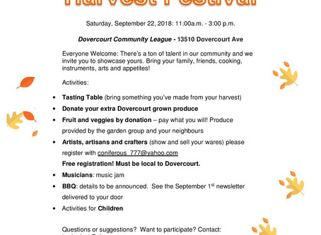 Participating with our Neighbors: Harvest Festival