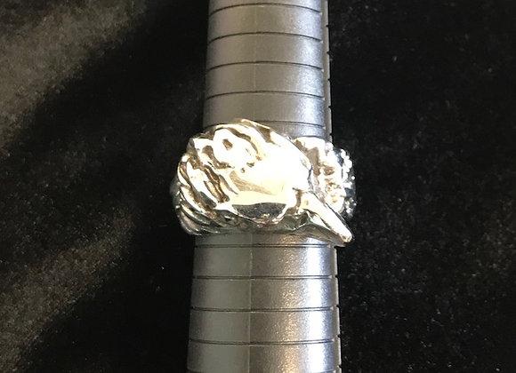 3D Eagle Head Ring