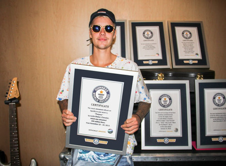 Justin Bieber makes Guinness Worlds Records book