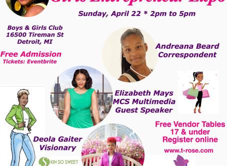 Girl's Destined for Greatness: The Girl's Entrepreneur Expo, 2018  Lansing's T-Rose Foundation