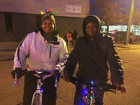 Silver Bells in the City-Beat Reporting While Biking