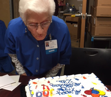 Volunteer at McLaren Greater Lansing Turns 100 This Month