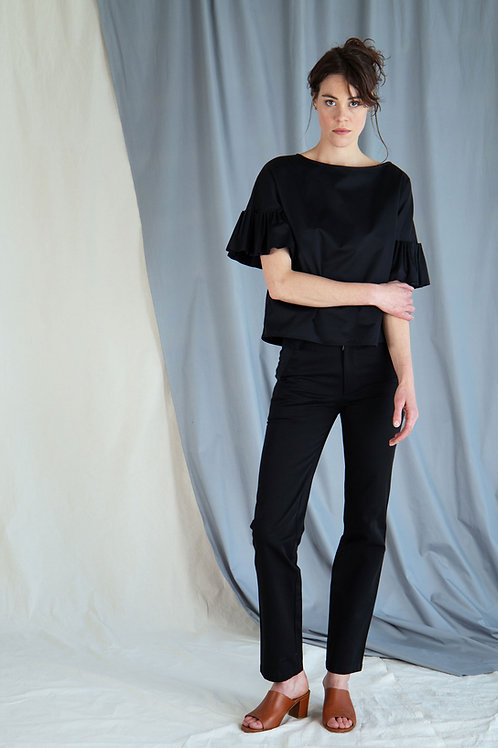 Twill Straight Trousers