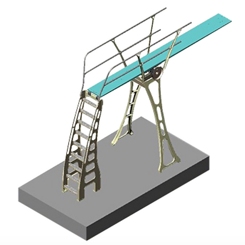 Three-Meter Stand with Handrails