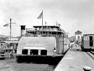 DQ going thru the Panama Canal on her wa