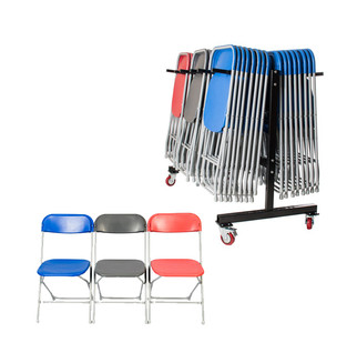 60 Chairs & Trolley