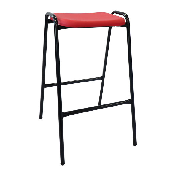 NP Stool Cherry Red