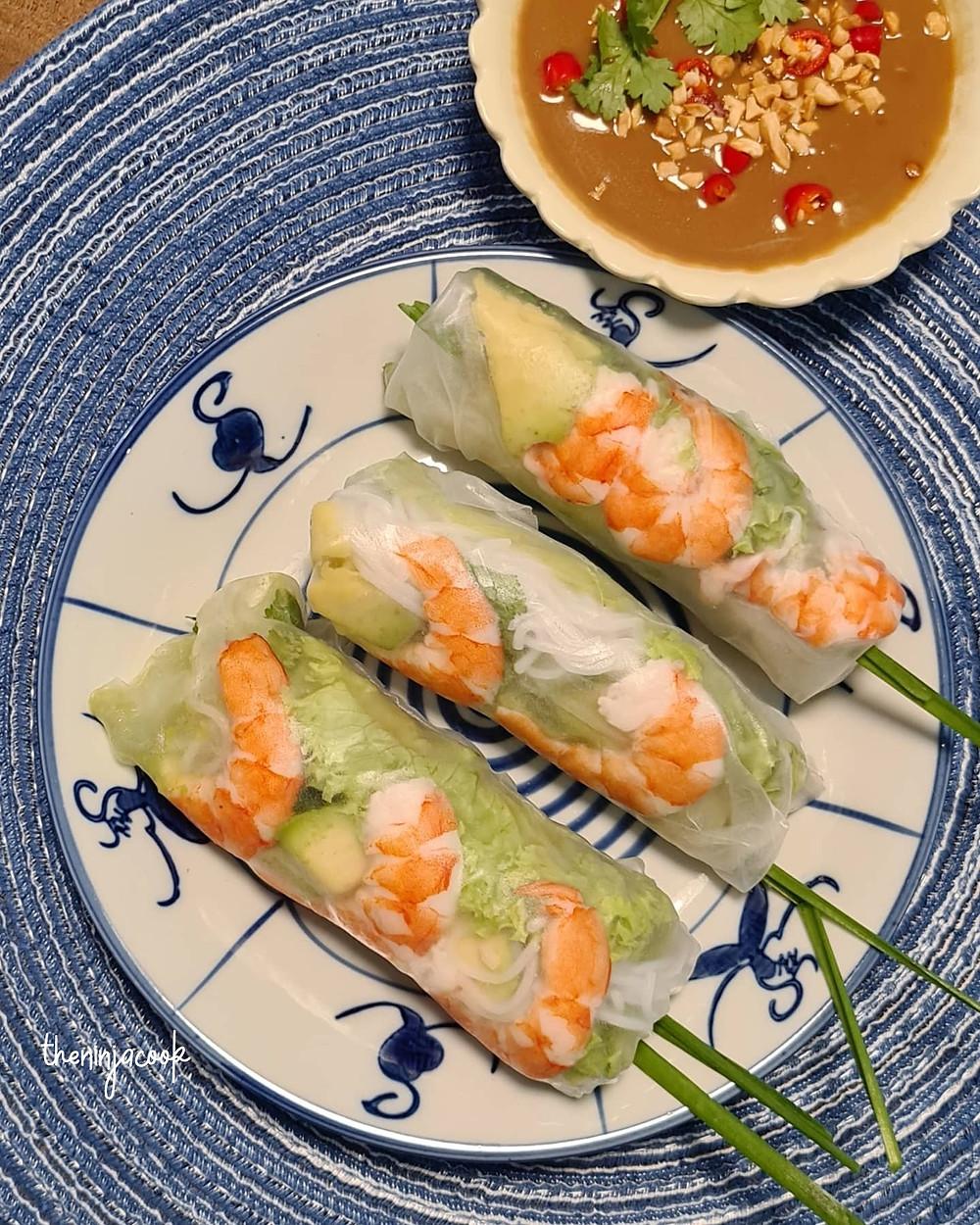 goi cuon, vietnamese spring rolls, vietnamese food