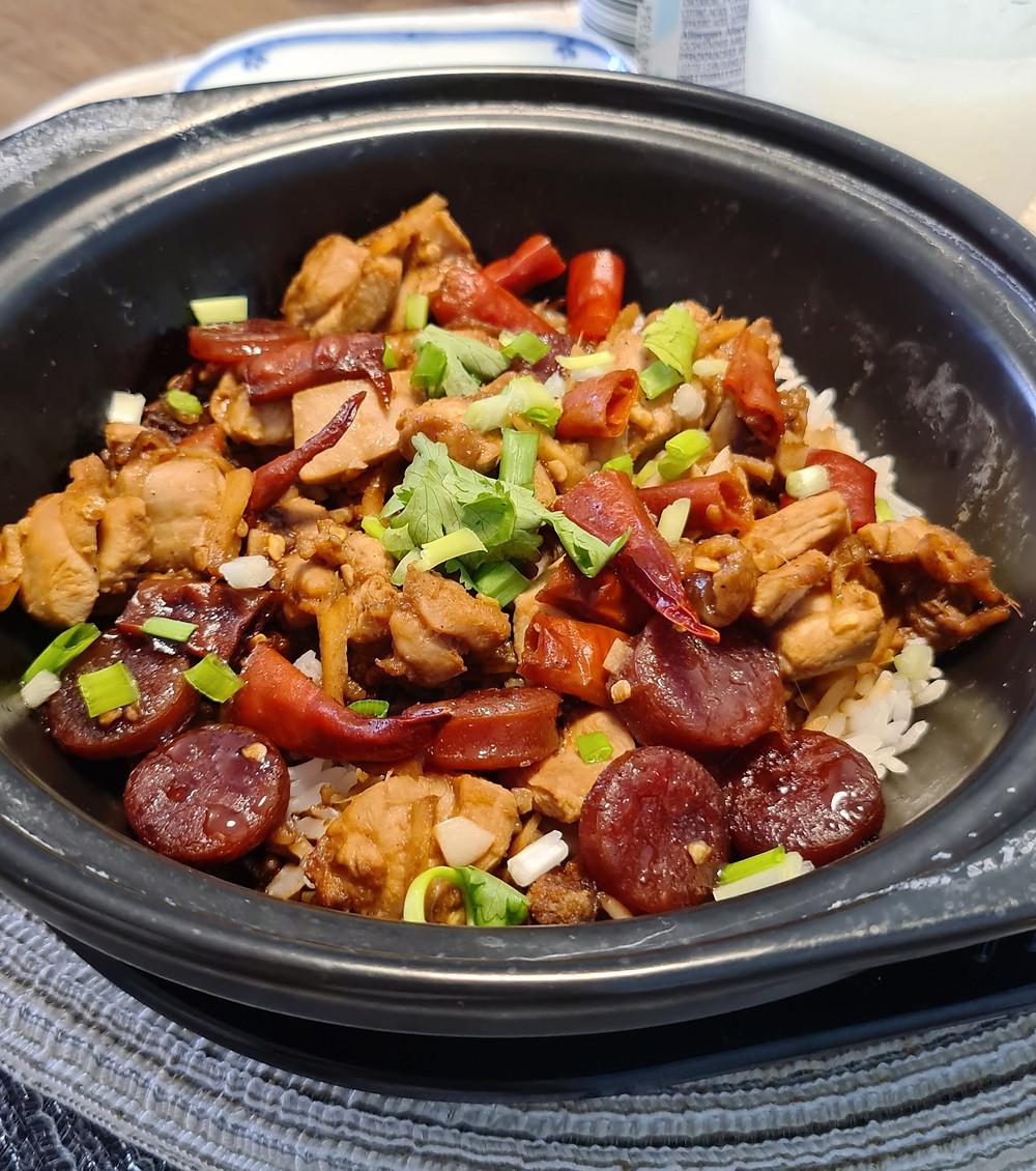 claypot rice, kung pao chicken