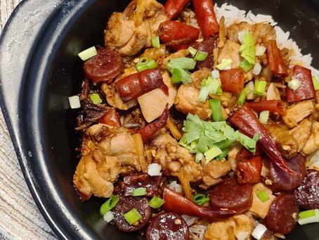 Kung Pao Chicken Claypot Rice