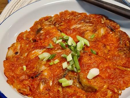 Crispy Kimchi Pancake (Kimchijeon) 김치전