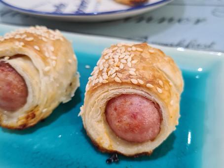 Crispy Sausage Rolls - Using Roti Prata Skin!
