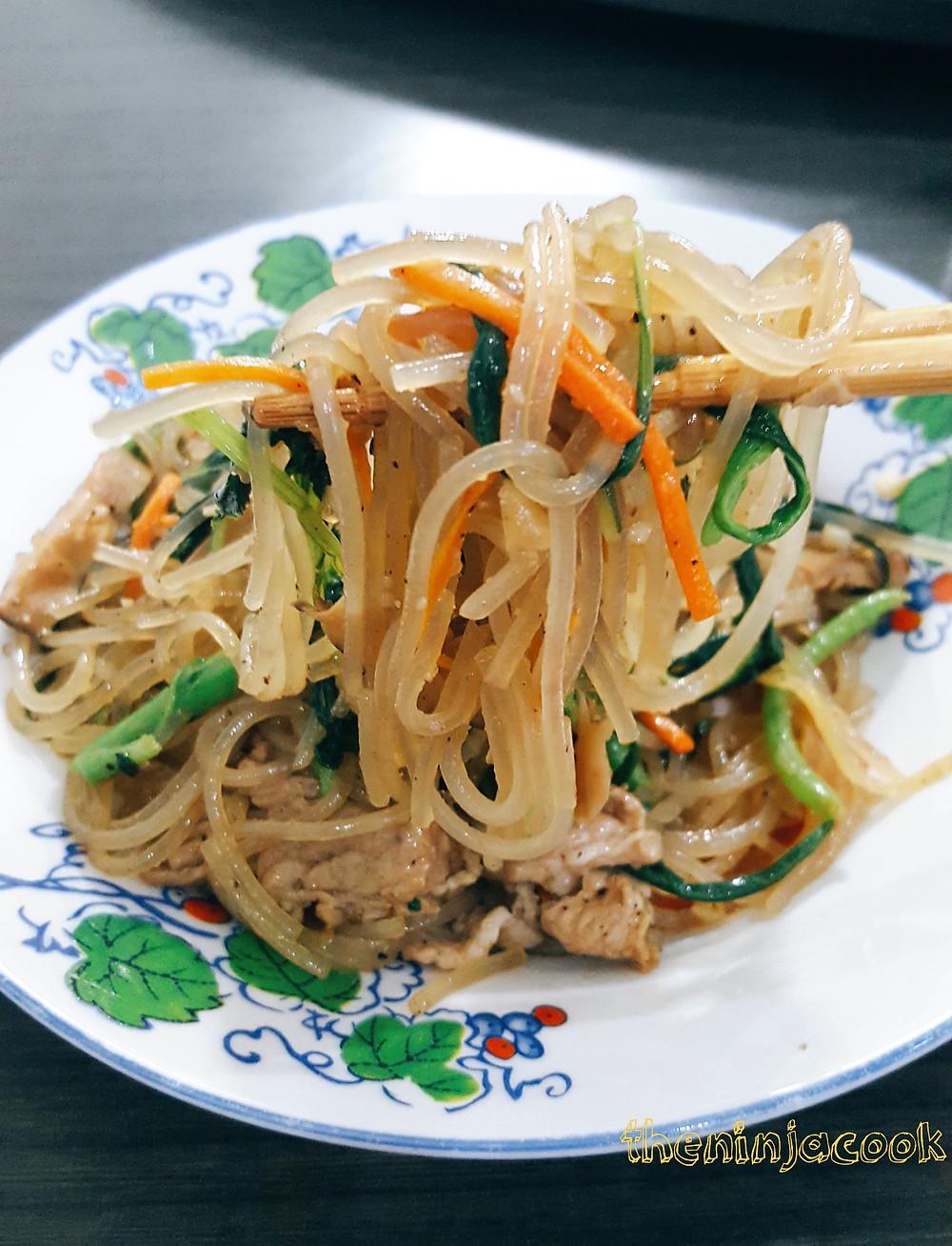 Japchae, Korean Glass Noodles