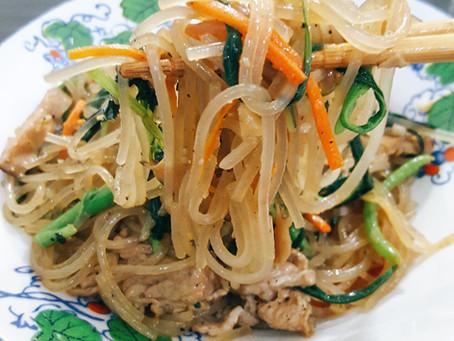 Japchae (Stir-Fried Korean Glass Noodles)