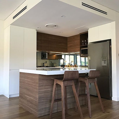 Beautifully detailed kitchen, completed