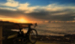 Bicycle Beach Suset Sunrise