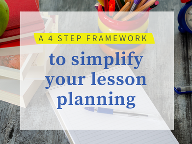 The lesson plan framework that will streamline the lesson planning process and support ELLs