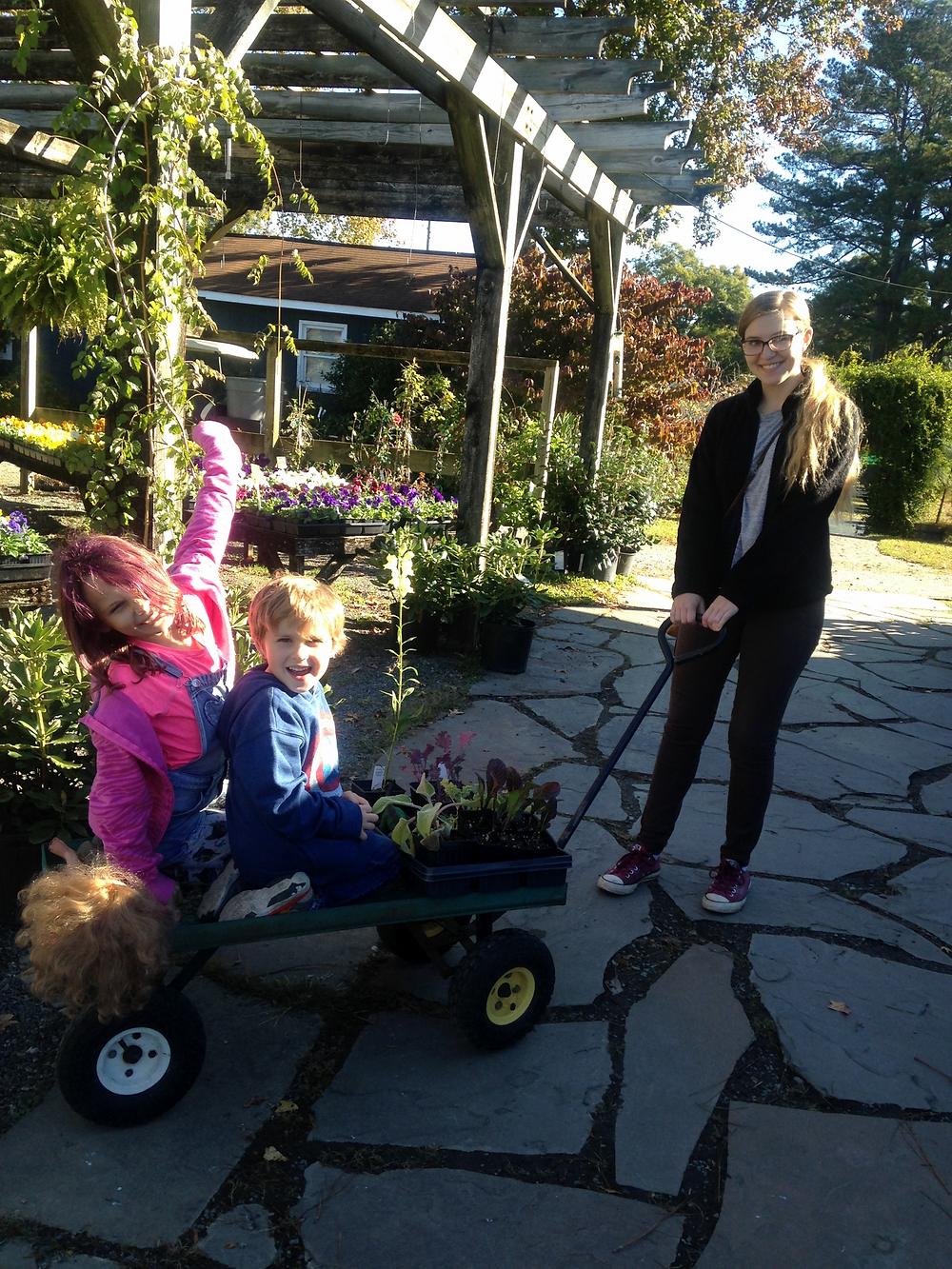 Ellen with the Roberts kids