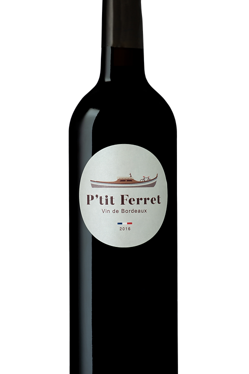 Carton 6 bouteilles P'tit Ferret Rouge - AOC Bordeaux 2016