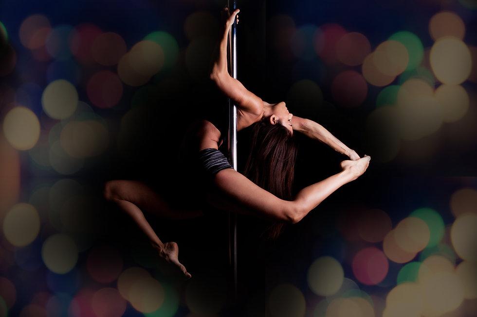 yoga fitness pole