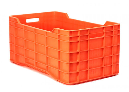 Caja de Plastico Walter Cerrada Naranja 71 x 39.5 x 32 cm
