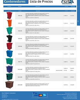 lista de precios de cajas