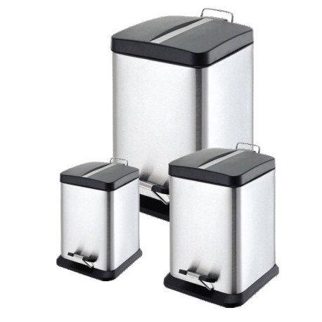 Bote de Acero con Tapa y Pedal Silver 6 litros