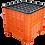 Thumbnail: Contenedor de Plastico con Tapa Mexico Calado 80cm x 80cm x 80cm
