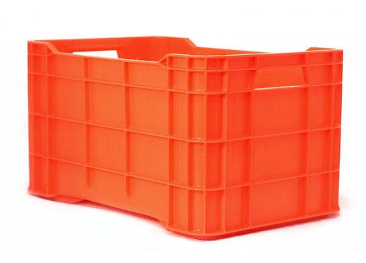 Caja de Plastico naranja Walterino Cerrada 51 X 33 X 29.5cm