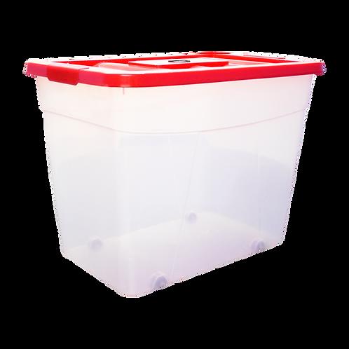 Caja de plastico Erick 46 transparente con tapa