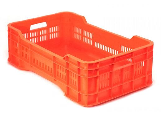 Caja de Plastico Gigante Mediana Calada Naranja 73 x 43 x 22 cm