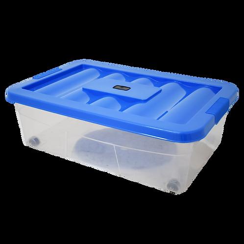 Caja de plastico transparente con tapa Erick 20