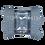 Caja de Plastico con Tapa Bisagras Mediana Gris